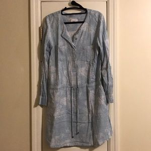 Lou and Grey Blue and White Cinch Waist Dress